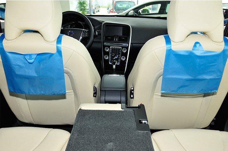 Пакеты для мусора в автомобиле синие